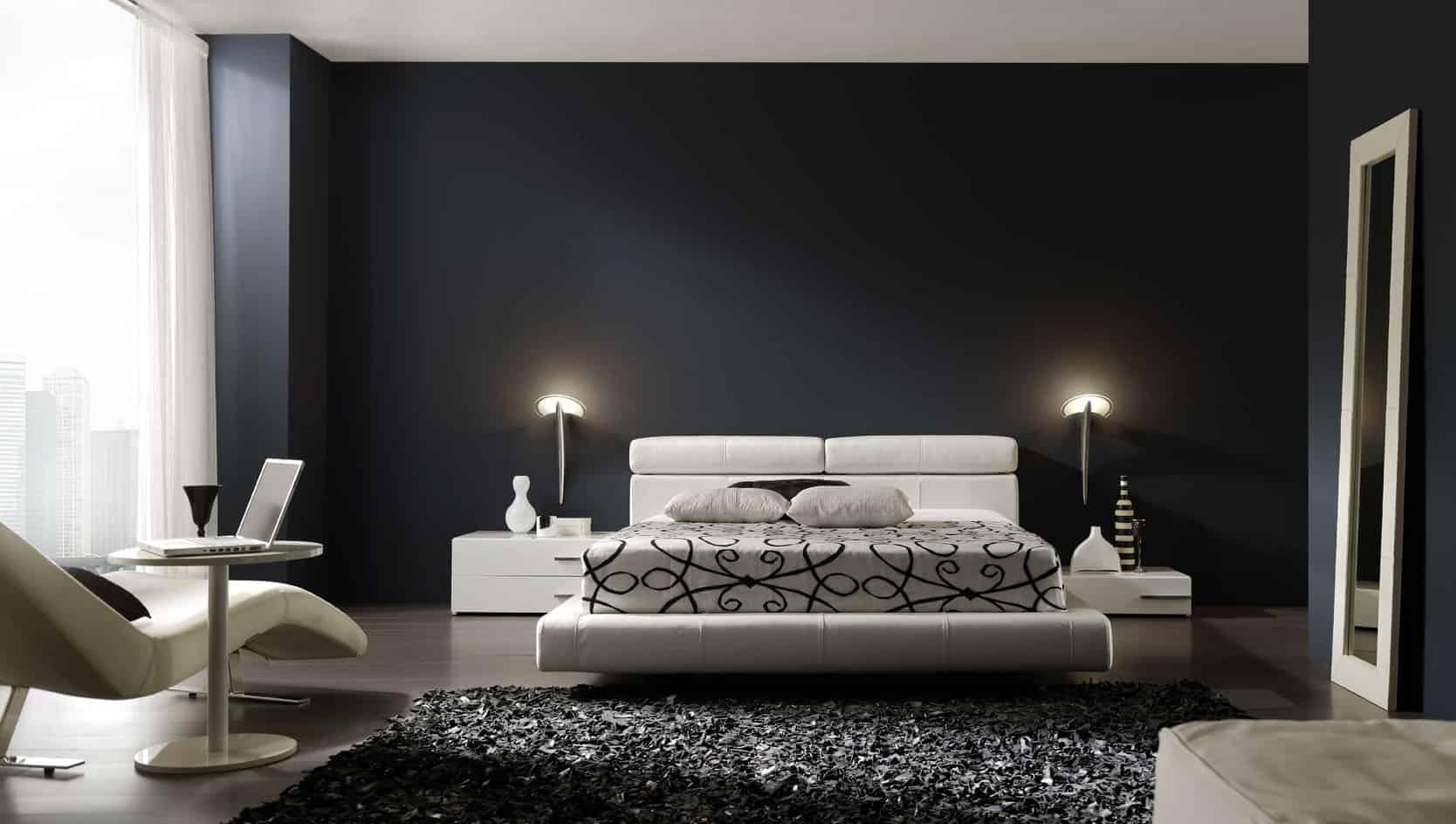 Todo sobre el interiorismo barcelona mviv - Dormitorio en blanco y negro ...