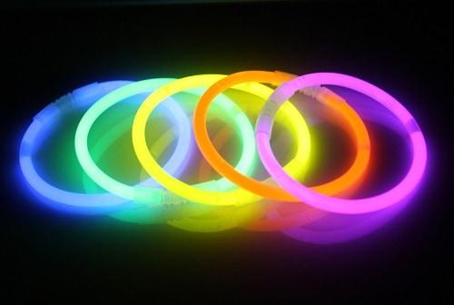 Pulseras luminosas fluor