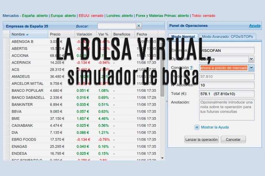 simulador bolsa virtual