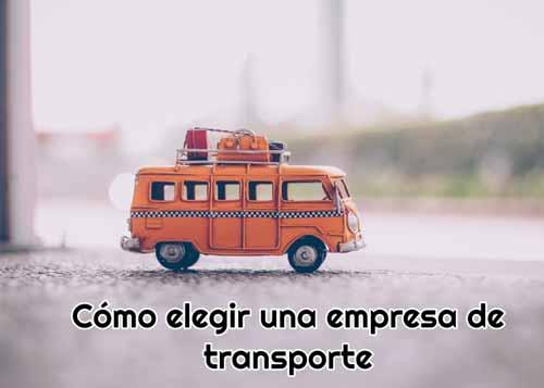 como elegir una empresa de transporte